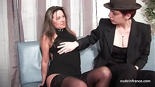 FFM French mature ass fucked for her bush-league casting Davenport with a redhead slut