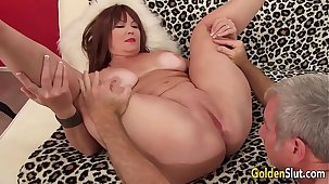 Mature Hoochie Isabelle Hallow Is Banged by a Goateed Guy