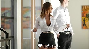 PureMature - Kiera Salmon-coloured uses her copulation power to get her way
