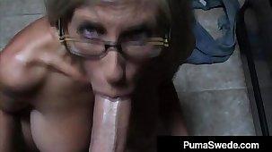 Euro Porn Celebrity Puma Swede Gets Milky Glasses After Blow Job!