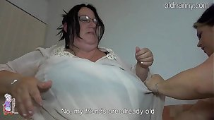 Old fat women fucking hose down bed