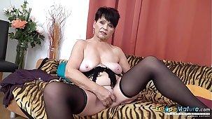 EuropeMaturE Sweet Female parent Alluring Striptease