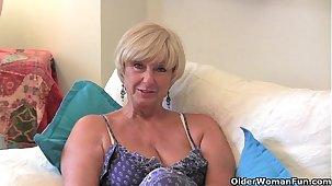 British granny Samantha needs her daily orgasm