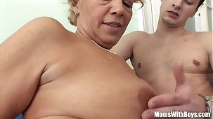 Young Souled Granny Sucking Together with Fucking Hard Cock
