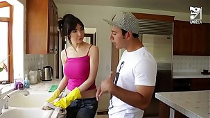 Axxxteca: Lucky Mexican fucks his hot friends mom forth slay rub elbows with ass Diana Prince
