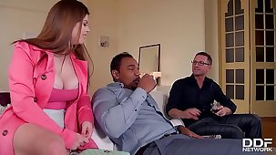 Horny As Fuck - Skimp And Friend Double Penetrate Hot Milf Lucia Love