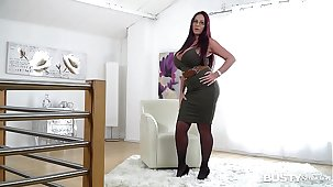 Busty seduction down ultra hot ease Milf Emma Tushie makes you cum big time