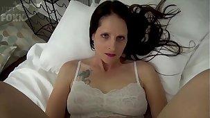 Mom & Son Share a Dado - Mom Wakes Up to Son Masturbating - POV, MILF, Family Sex, Mother - Christina Sapphire