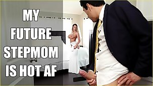BANGBROS - Bride MILF Brooklyn Hunt Fucks Her Dissemble Son On Conjugal Day!