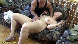 busty german Milf enjoys a big unearth in her ass