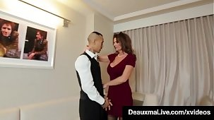 Horny Cougar Babe Deauxma Fucks Room Service Guy more Hotel!