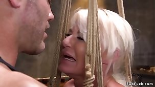 Busty Milf brutalized with rough sex