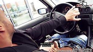 SEX IM MC DRIVE IN VON BURGER KING beim EroCom Date mit deutscher Gothic Straßen Nutte