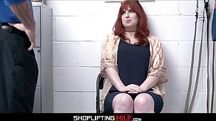 Thick Fat Ass Redhead MILF Shoplifter Amber Well-spring Dealings With Guard For No Cops