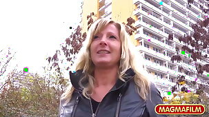 MAGMA FILM – Sexy Milf picked back on the street