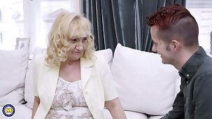 Granny and dam seduce random boys